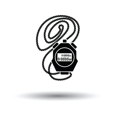 soccer coach: Coach stopwatch  icon. White background with shadow design. Vector illustration.