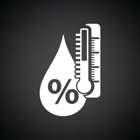 humidity: Humidity icon. Black background with white. Vector illustration. Illustration