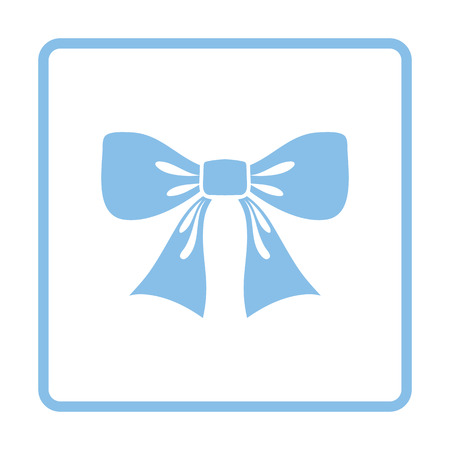 blue party: Party bow icon. Blue frame design. Vector illustration. Illustration