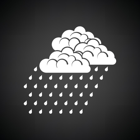 rainfall: Rainfall icon. Black background with white. Vector illustration. Illustration