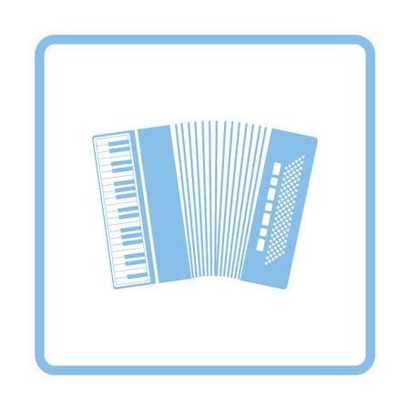 concertina: Accordion icon. Blue frame design. Vector illustration. Illustration