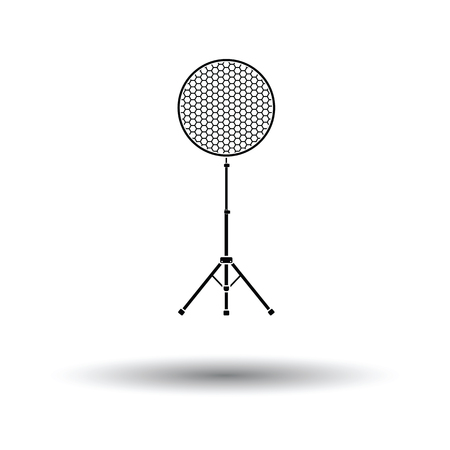 Icon of beauty dish flash. White background with shadow design. Vector illustration. Illustration