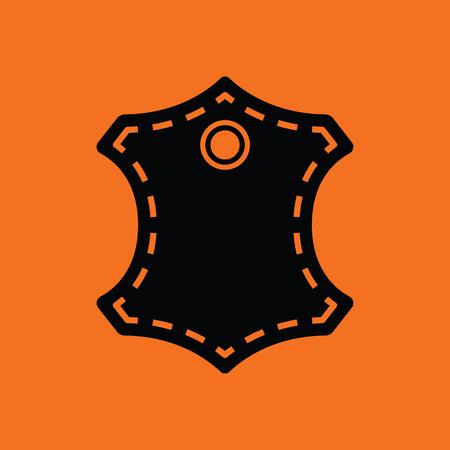 sign orange: Leather sign icon. Orange background with black. Vector illustration.