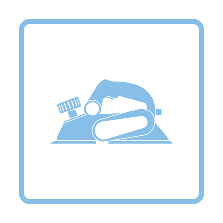 electric blue: Electric planer icon. Blue frame design. Vector illustration.