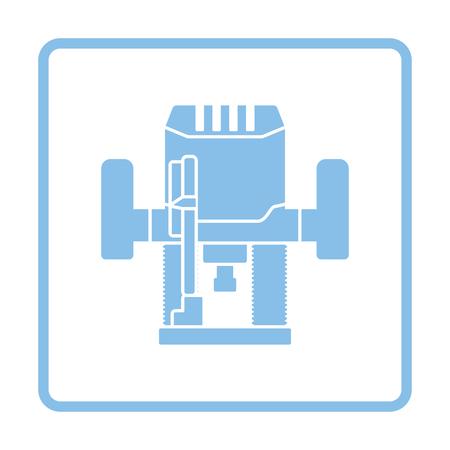 milling: Plunger milling cutter icon. Blue frame design. Vector illustration. Illustration