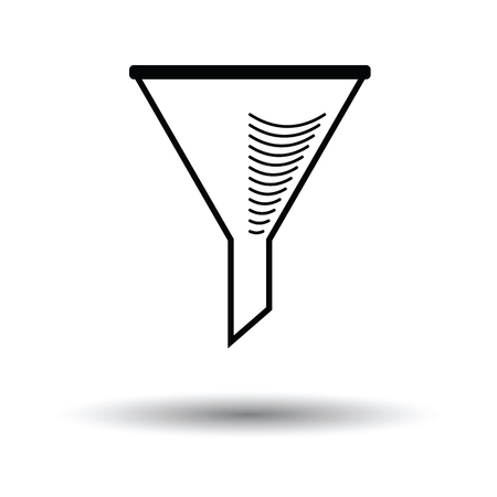 Icon of chemistry filler cone. White background with shadow design. Vector illustration.