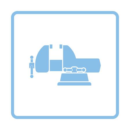 vise: Vise icon. Blue frame design. Vector illustration.