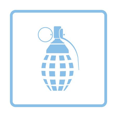 defensive: Defensive grenade icon. Blue frame design. Vector illustration. Illustration