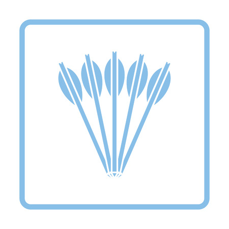 crossbow: Crossbow bolts icon. Blue frame design. Vector illustration.