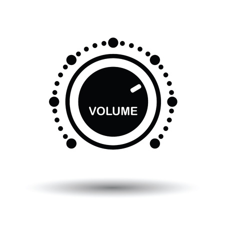 volume control: Volume control icon. White background with shadow design. Vector illustration. Illustration