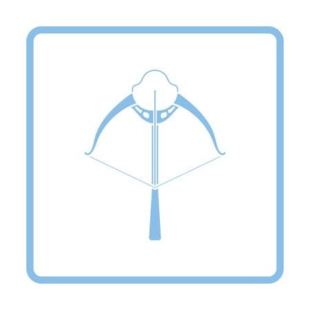 crossbow: Crossbow icon. Blue frame design. Vector illustration. Illustration