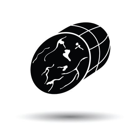 shin: Ham icon. White background with shadow design. Vector illustration. Illustration