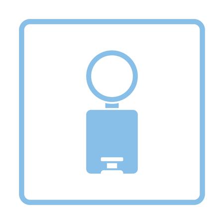 wastebasket: Trash can icon. Blue frame design. Vector illustration.