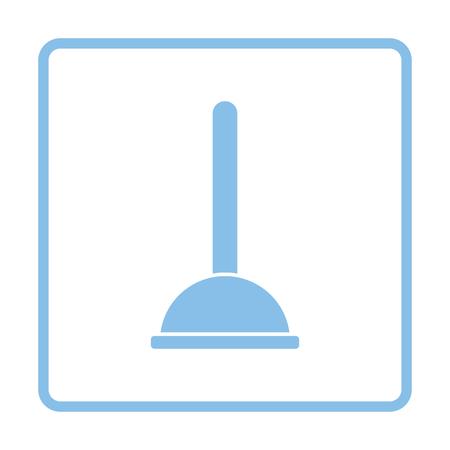 unblock: Plunger icon. Blue frame design. Vector illustration. Illustration