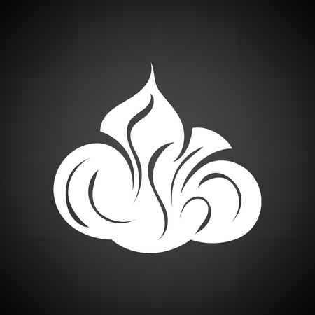 Shaving foam icon. Black background with white. Vector illustration. Illustration