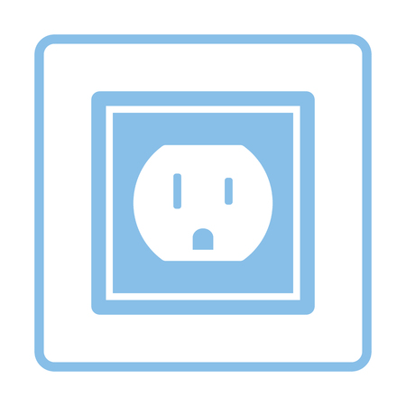 electric outlet: Electric outlet icon. Blue frame design. Vector illustration.