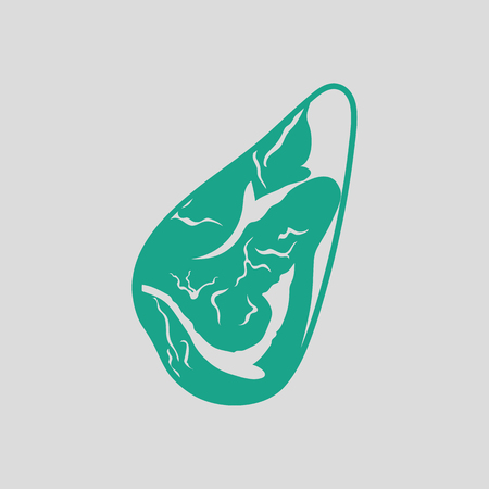 meat steak: Meat steak icon. Gray background with green. Vector illustration. Illustration