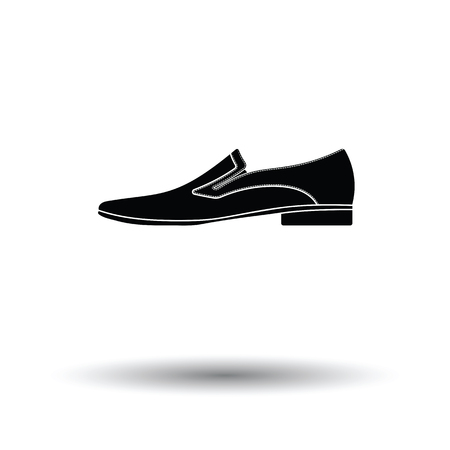 businessman shoes: Man shoe icon. White background with shadow design. Vector illustration.