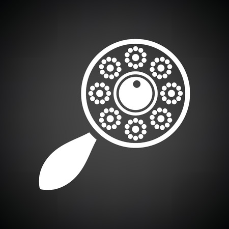 clack: Beanbag icon. Black background with white. Vector illustration.