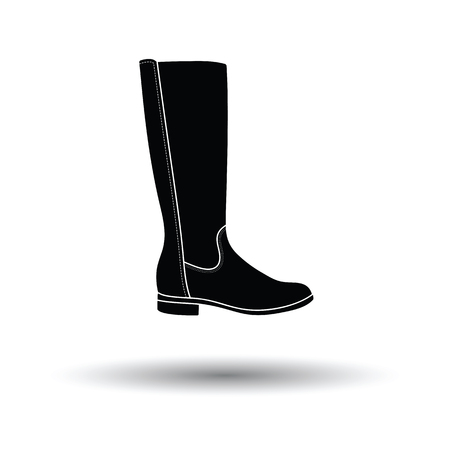 hessian boots: Autumn woman boot icon. White background with shadow design. Vector illustration.
