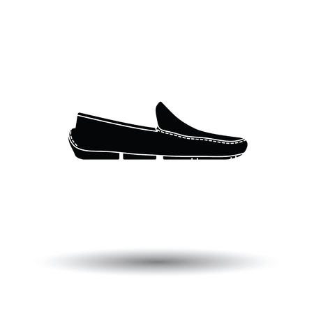 shoe icon. White background with shadow design. Vector illustration.