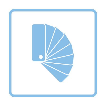 paperhanging: Color samples icon. Blue frame design. Vector illustration.