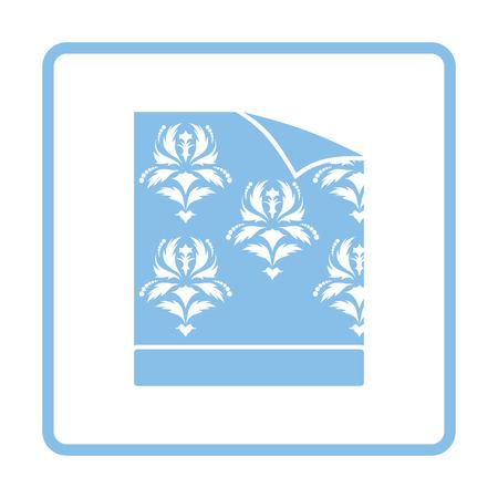 paperhanging: Wallpaper icon. Blue frame design. Vector illustration.
