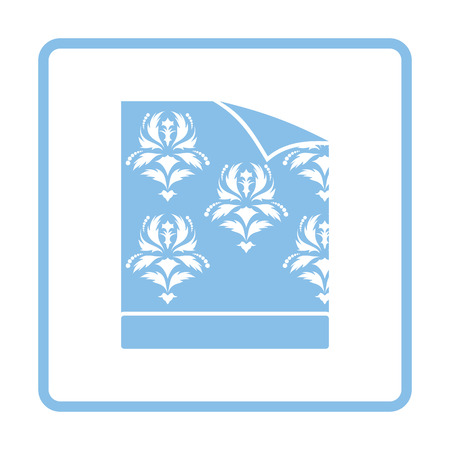 wallpapering: Wallpaper icon. Blue frame design. Vector illustration.