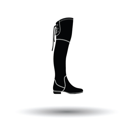 Hessian boots icon. White background with shadow design. Vector illustration. Illustration
