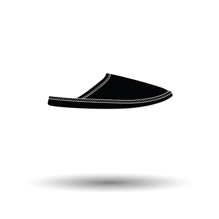 slipper: Man home slipper icon. White background with shadow design. Vector illustration.