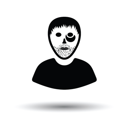 criminal: Criminal man icon. White background with shadow design. Vector illustration.