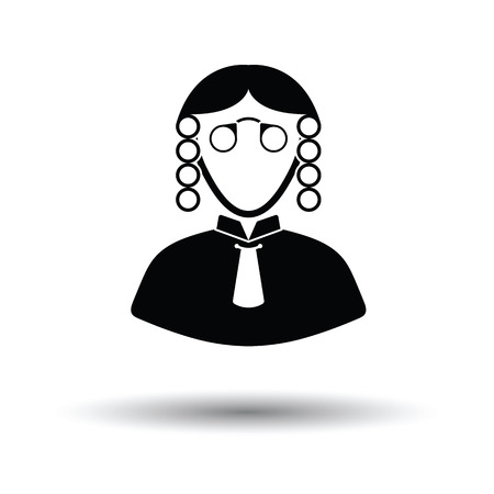 Judge icon. White background with shadow design. Vector illustration. Illustration