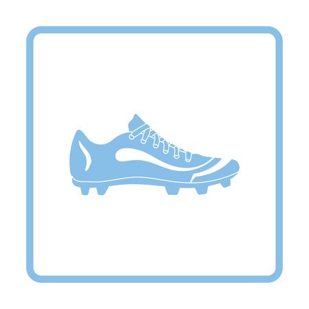 football shoe: American football shoe icon. Blue frame design. Vector illustration.