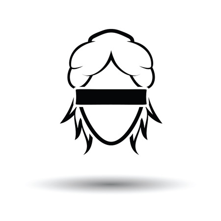 Femida head icon. White background with shadow design. Vector illustration. Illustration