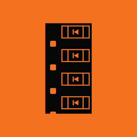 diode: Diode smd component tape icon. Orange background with black. Vector illustration.