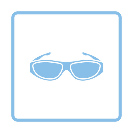 bifocals: Poker sunglasses icon. Blue frame design. Vector illustration.