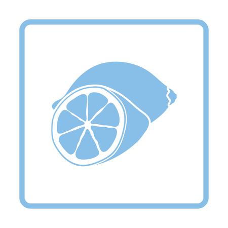 citrous: Lemon icon. Blue frame design. Vector illustration. Illustration
