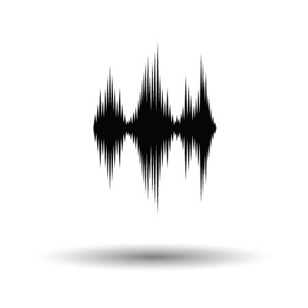 Muziek equalizer icoon. Witte achtergrond met schaduw ontwerp. Vector illustratie.