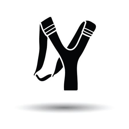 slingshot: Hunting  slingshot  icon. White background with shadow design. Vector illustration. Illustration