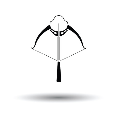 crossbow: Crossbow icon. White background with shadow design. Vector illustration. Illustration