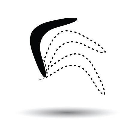 Boomerang  icon. White background with shadow design. Vector illustration.