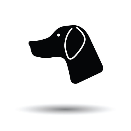 hunting dog: Hunting dog had  icon. White background with shadow design. Vector illustration. Illustration