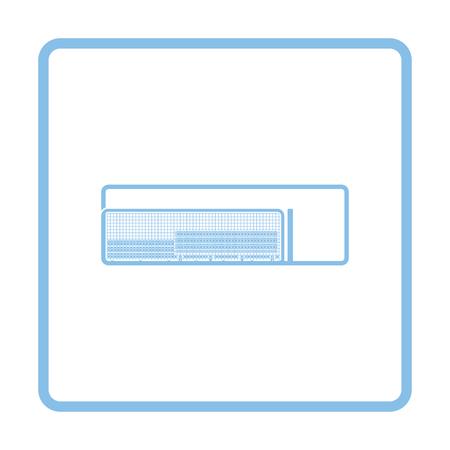 dugout: Baseball reserve bench icon. Blue frame design. Vector illustration. Illustration
