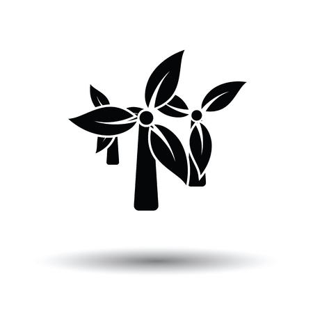 Wind mill leaves in blades icon. White background with shadow design. Vector illustration.
