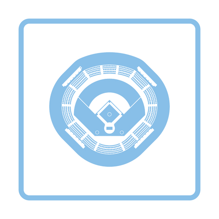 mound: Baseball stadium icon. Blue frame design. Vector illustration.
