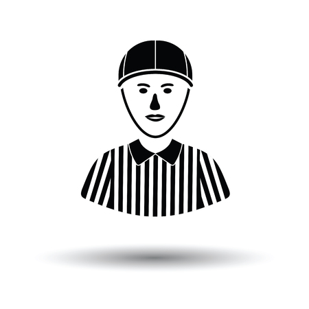 umpire: American football referee icon. White background with shadow design. Vector illustration. Illustration
