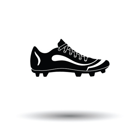 American football shoe icon. White background with shadow design. Vector illustration. Illustration