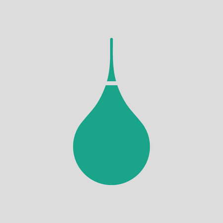 Enema icon. Gray background with green. Vector illustration.
