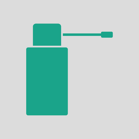 pressurized: Inhalator icon. Gray background with green. Vector illustration. Illustration