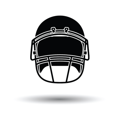 personalize: American football helmet icon. White background with shadow design. Vector illustration.